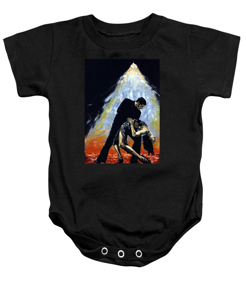 Tango Baby Onesie featuring the painting The Intoxication of Tango by Richard Young