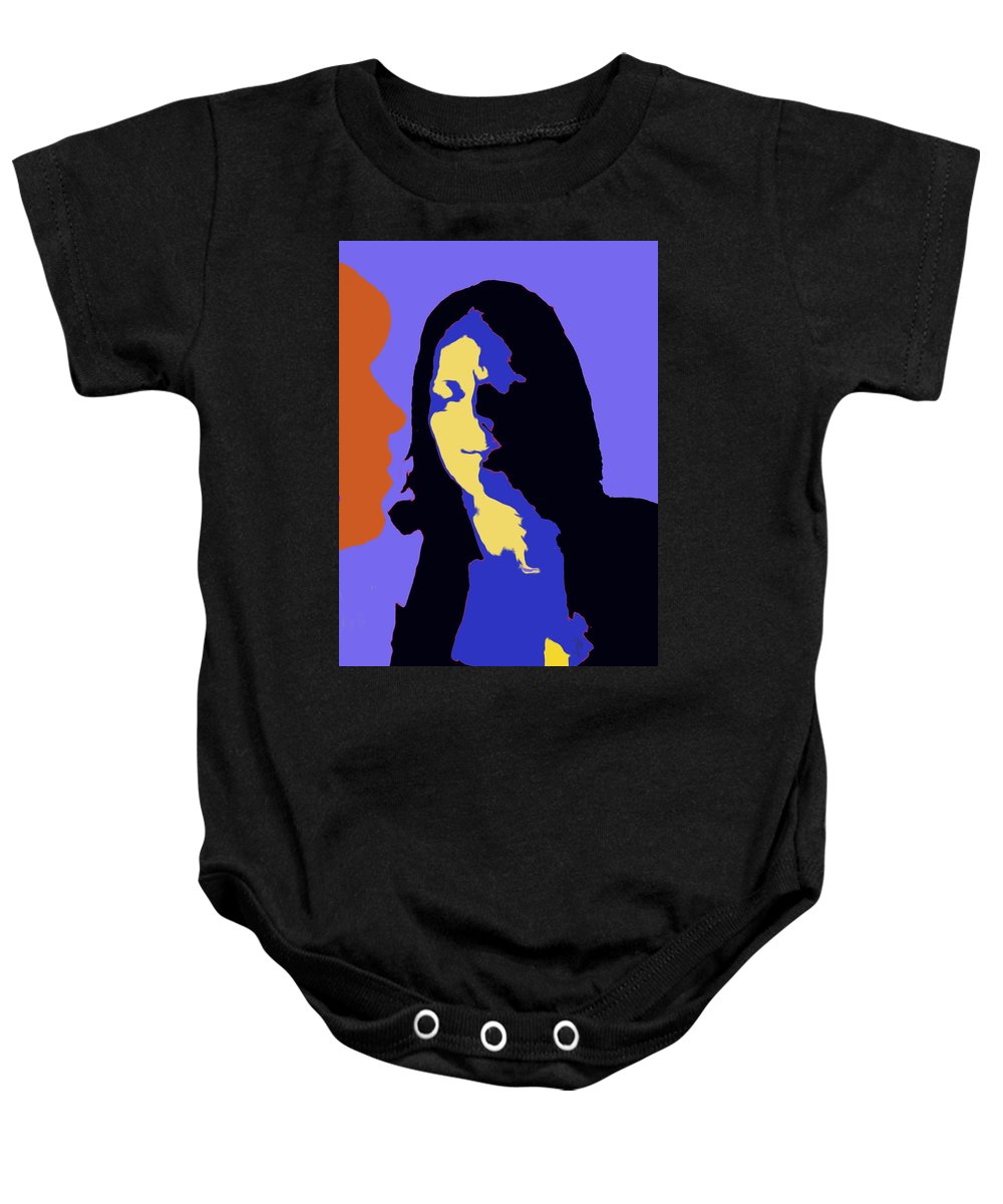 Faces Baby Onesie featuring the digital art The Jazz Singer by Ian MacDonald