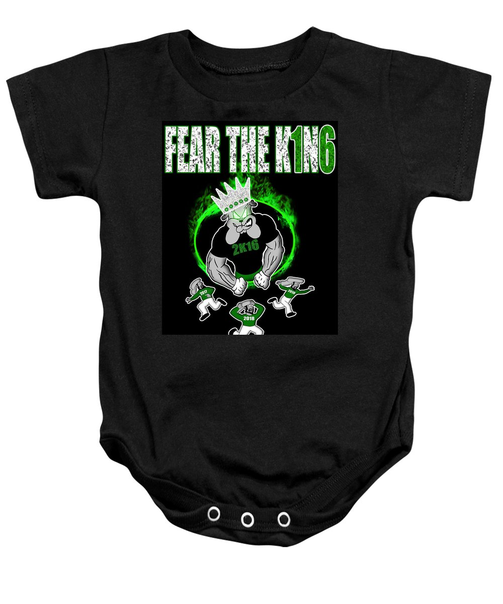 Baby Onesie featuring the photograph The King Is Here by Jean