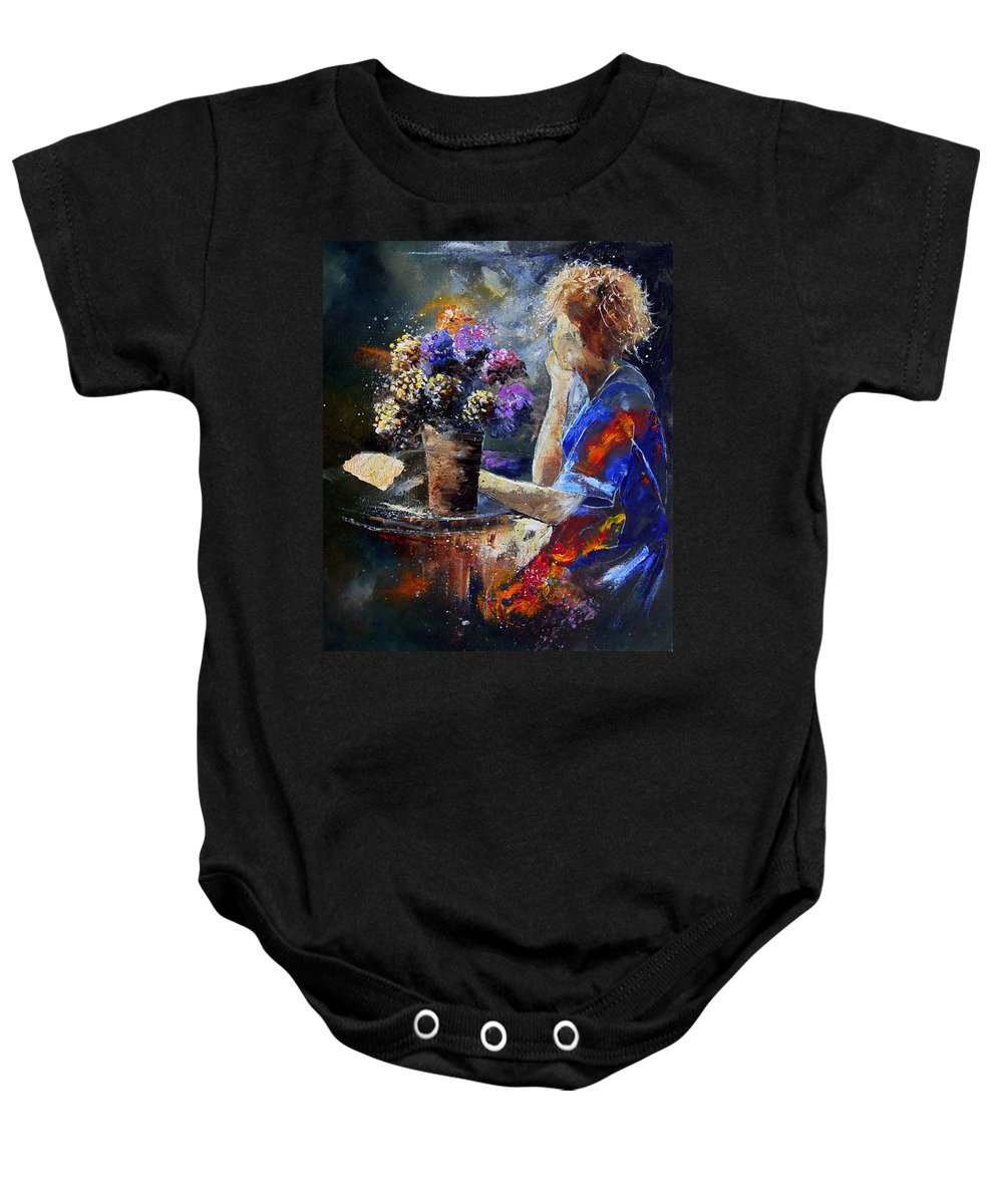 Girl Nude Baby Onesie featuring the painting The Letter by Pol Ledent