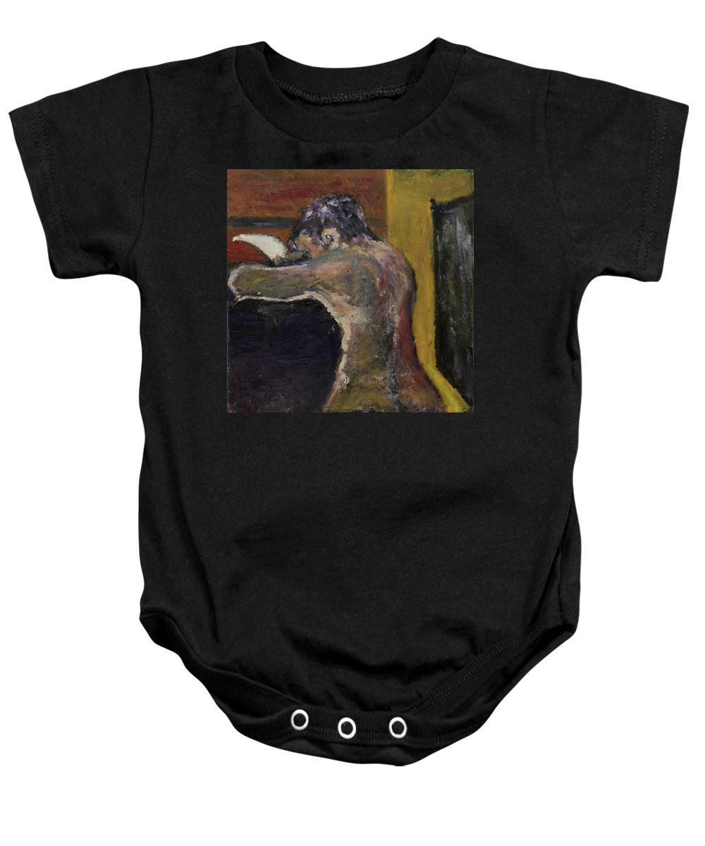 Letter Baby Onesie featuring the painting The Letter Receiver by Craig Newland
