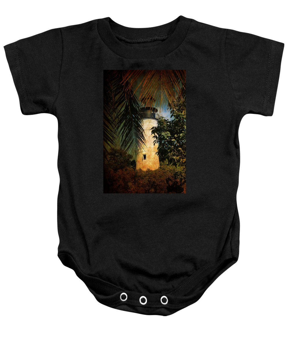 Lighthouse Baby Onesie featuring the photograph The Lighthouse In Key West by Susanne Van Hulst