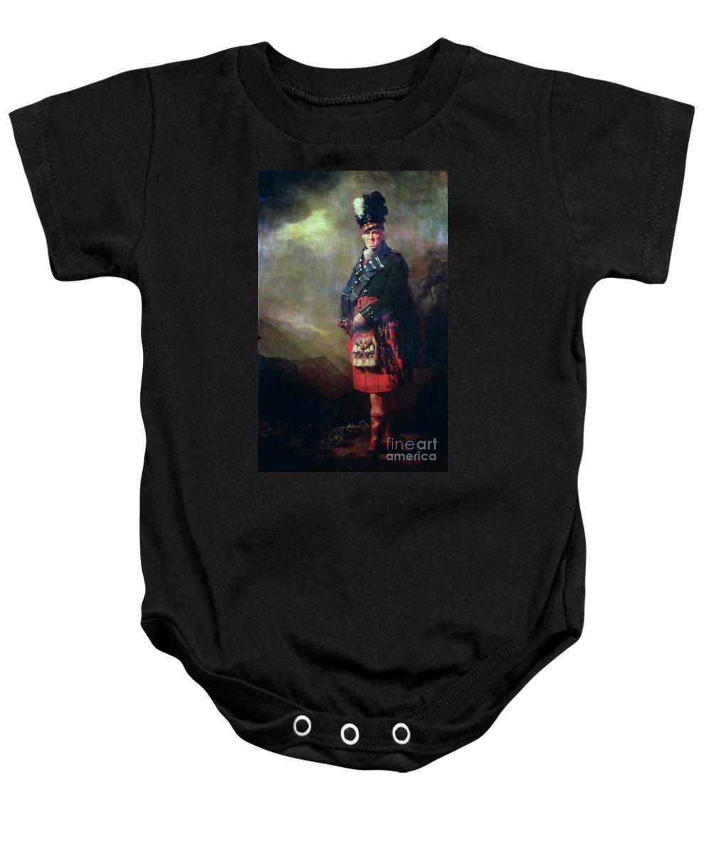Kilt Baby Onesie featuring the painting The Macnab by Sir Henry Raeburn