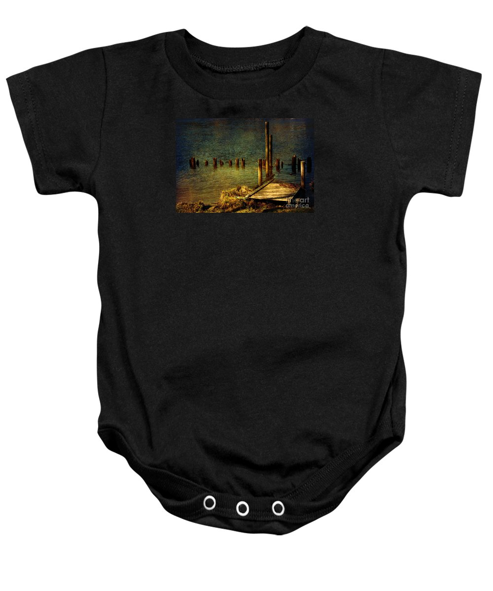 Festblues Baby Onesie featuring the photograph The Magic Hour.. by Nina Stavlund