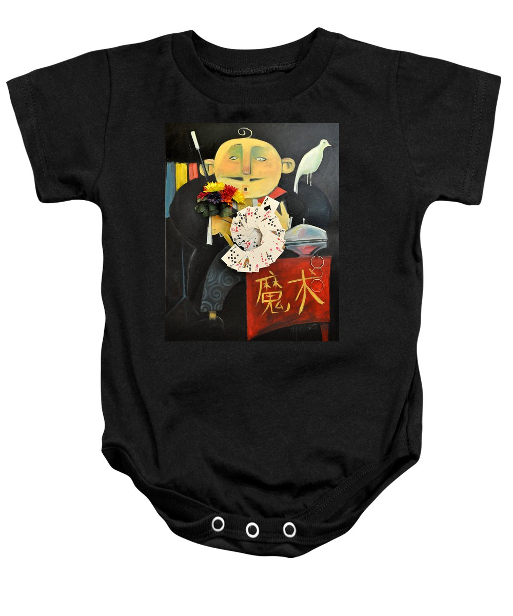 Magic Baby Onesie featuring the painting The Magician by Tim Nyberg