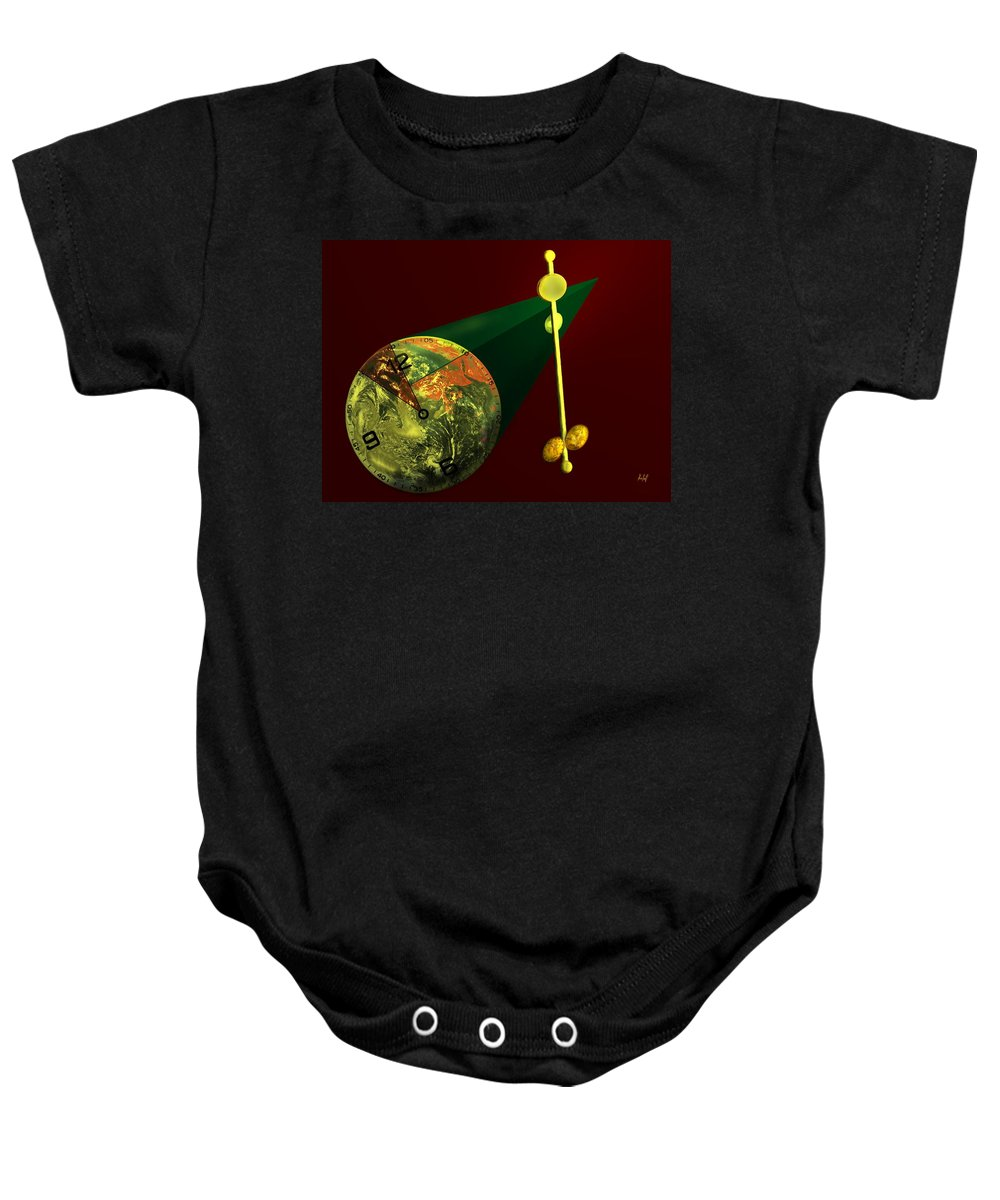Earth Baby Onesie featuring the digital art The Metronome by Helmut Rottler