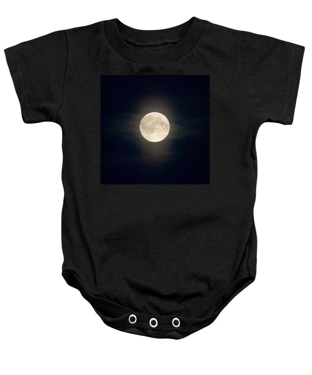 Lehtokukka Baby Onesie featuring the photograph The Moon 2 by Jouko Lehto