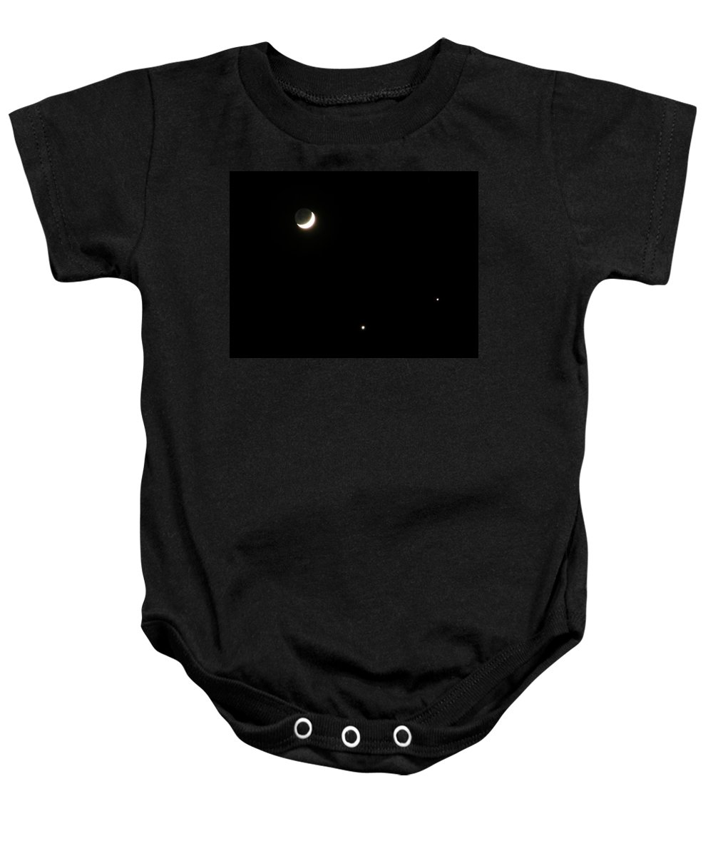 Moon Baby Onesie featuring the photograph The Moon And Stars by Gale Cochran-Smith