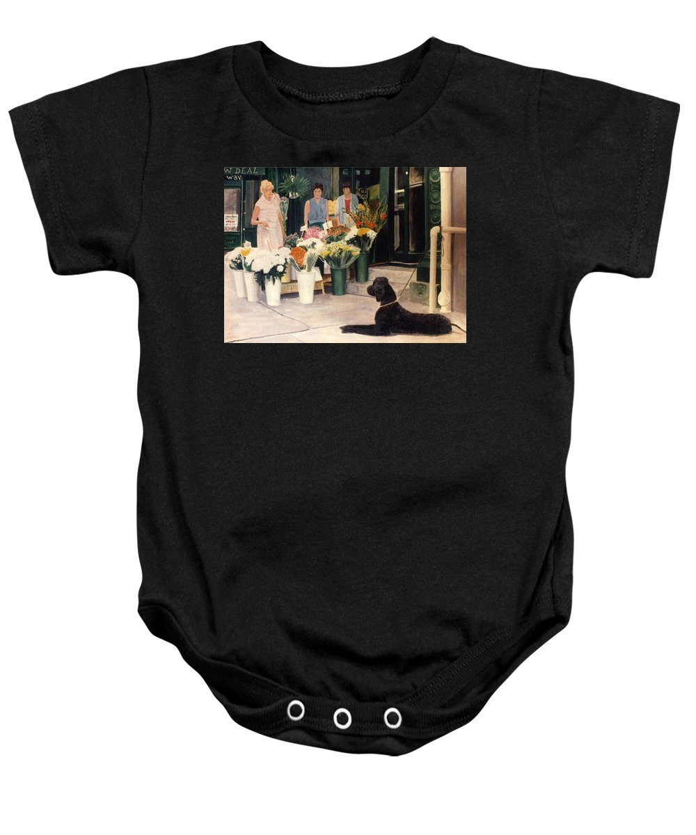 Mums Baby Onesie featuring the painting The New Deal by Steve Karol