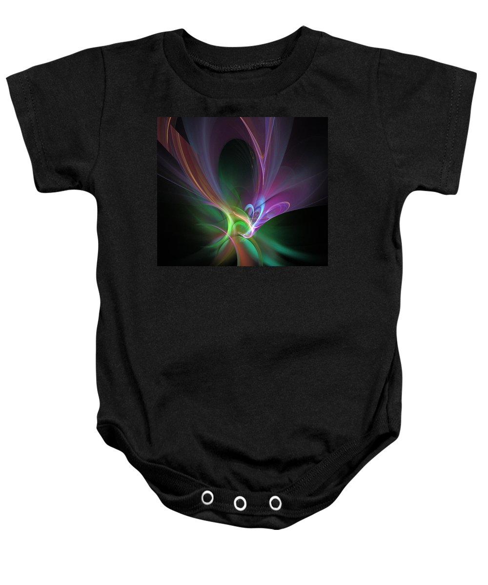 Phoenix Baby Onesie featuring the digital art The Phoenix by Ricky Barnard