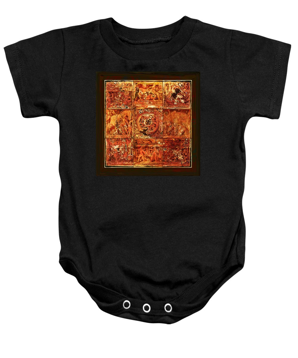 Bangladesh Baby Onesie featuring the digital art The Pieces Of Heritage by Rabi Khan