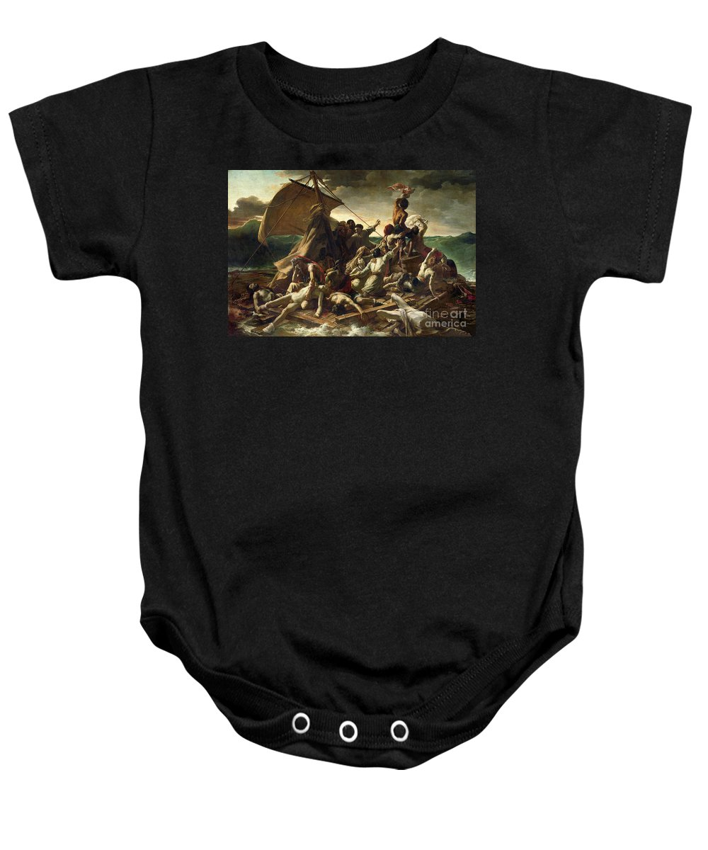 The Raft Of The Medusa Baby Onesie featuring the painting The Raft Of The Medusa by Theodore Gericault