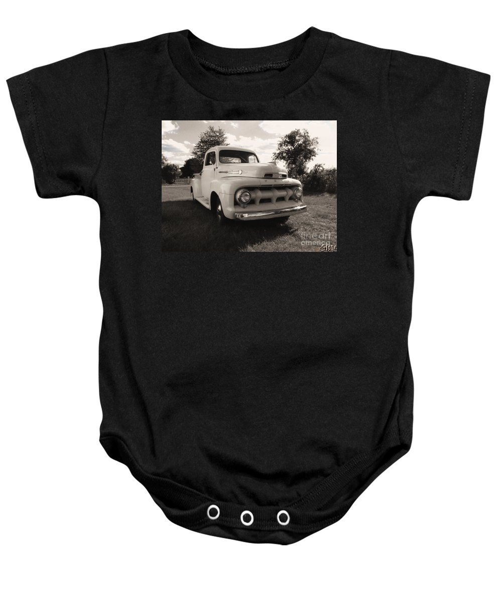 Classic Baby Onesie featuring the photograph The Rizzo Effect Take Two by September Stone
