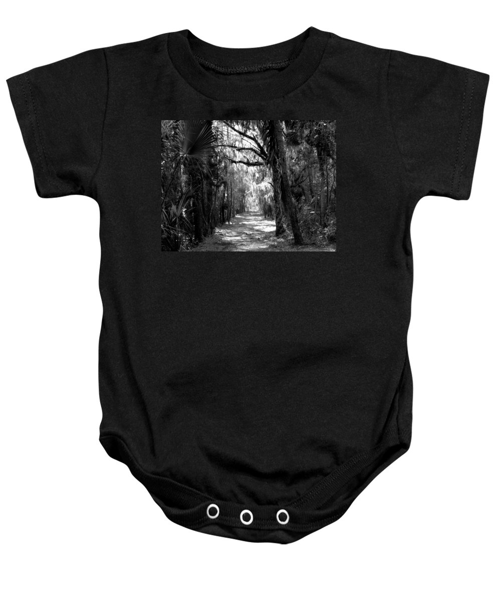 Trees Baby Onesie featuring the photograph The Road Less Traveled by J M Farris Photography