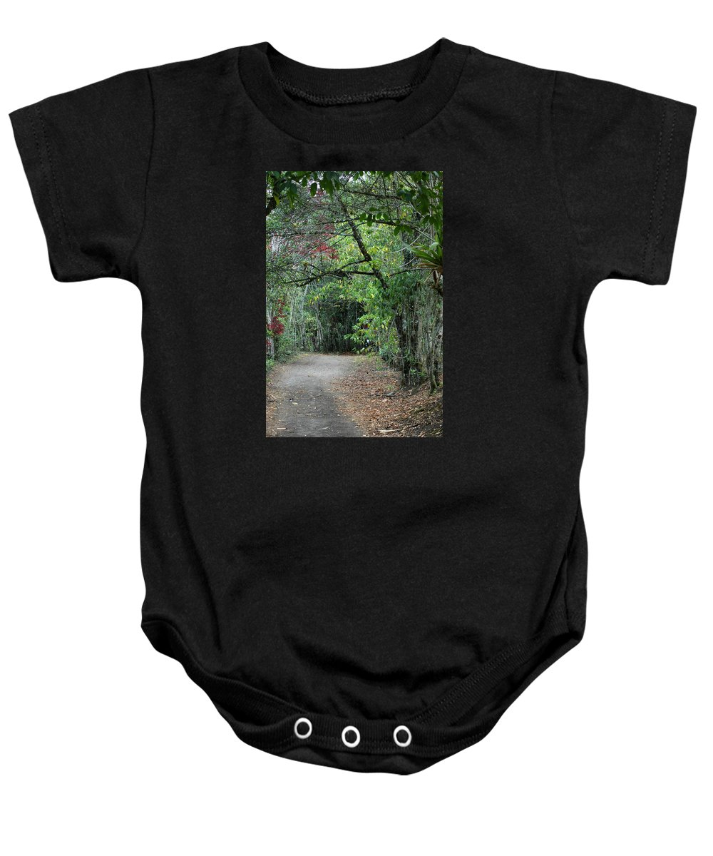 Tropics Baby Onesie featuring the photograph The Road Less Traveled by Teresa Stallings