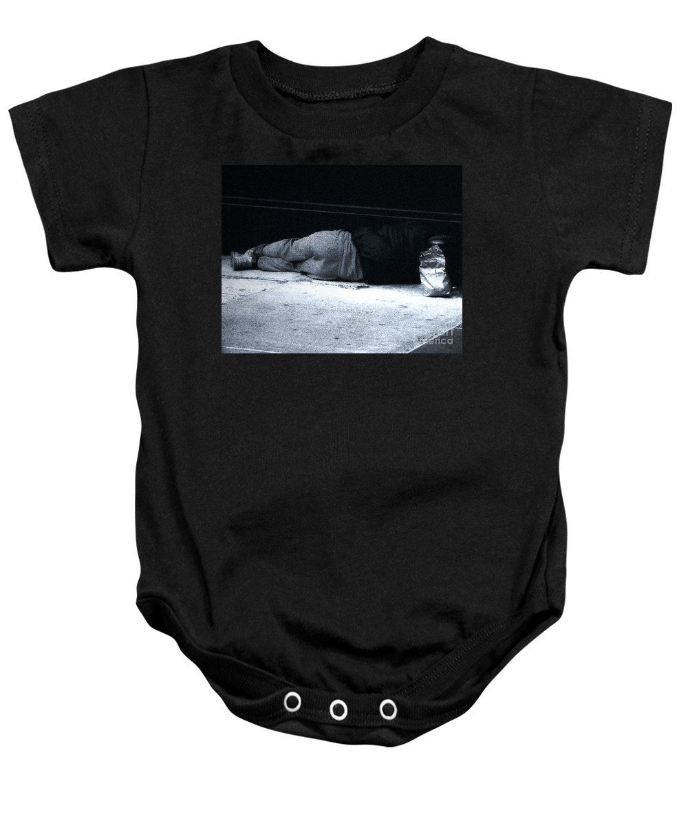Homeless Baby Onesie featuring the photograph The Sidewalks Of New York by RC DeWinter