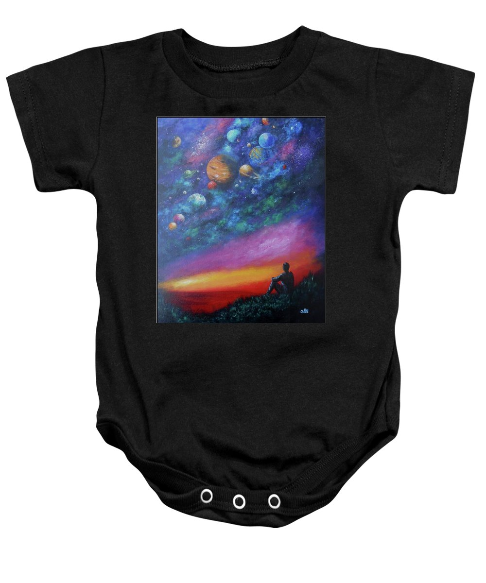 Baby Onesie featuring the painting The Sky by Bonnie Chance