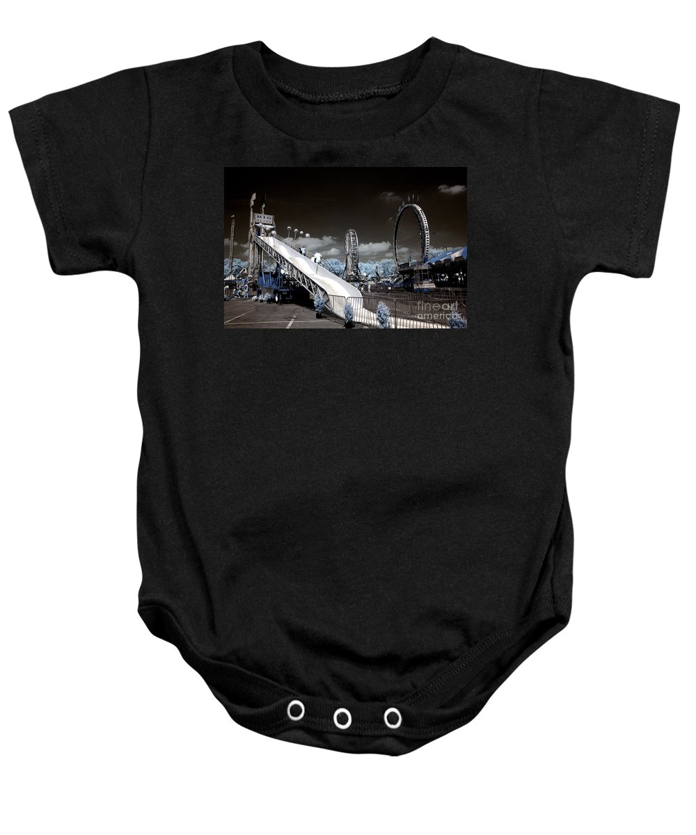 Infrared Baby Onesie featuring the photograph The Slide by Paul W Faust - Impressions of Light