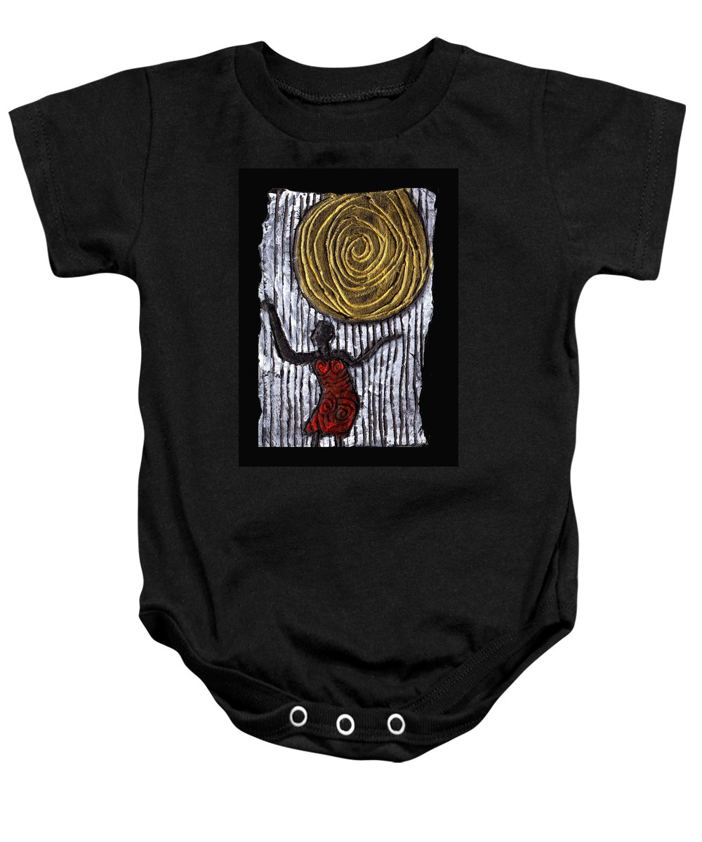 Woman Baby Onesie featuring the painting The Sun And I by Wayne Potrafka