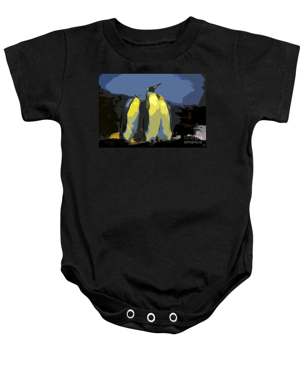 Art Baby Onesie featuring the painting The Three Emperors by David Lee Thompson