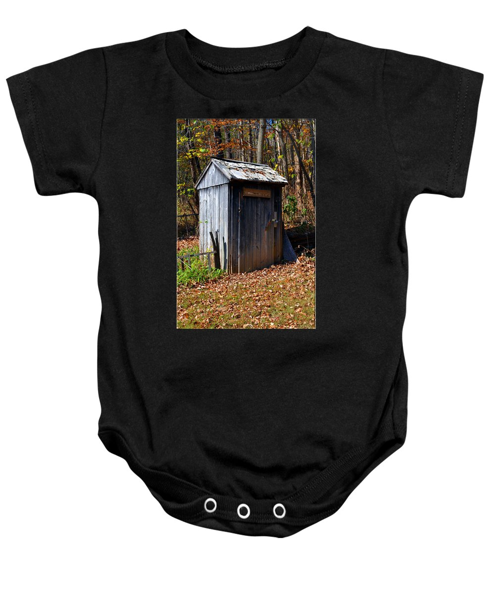 Tool Shed Baby Onesie featuring the photograph The Tool Shed by Brittany Horton