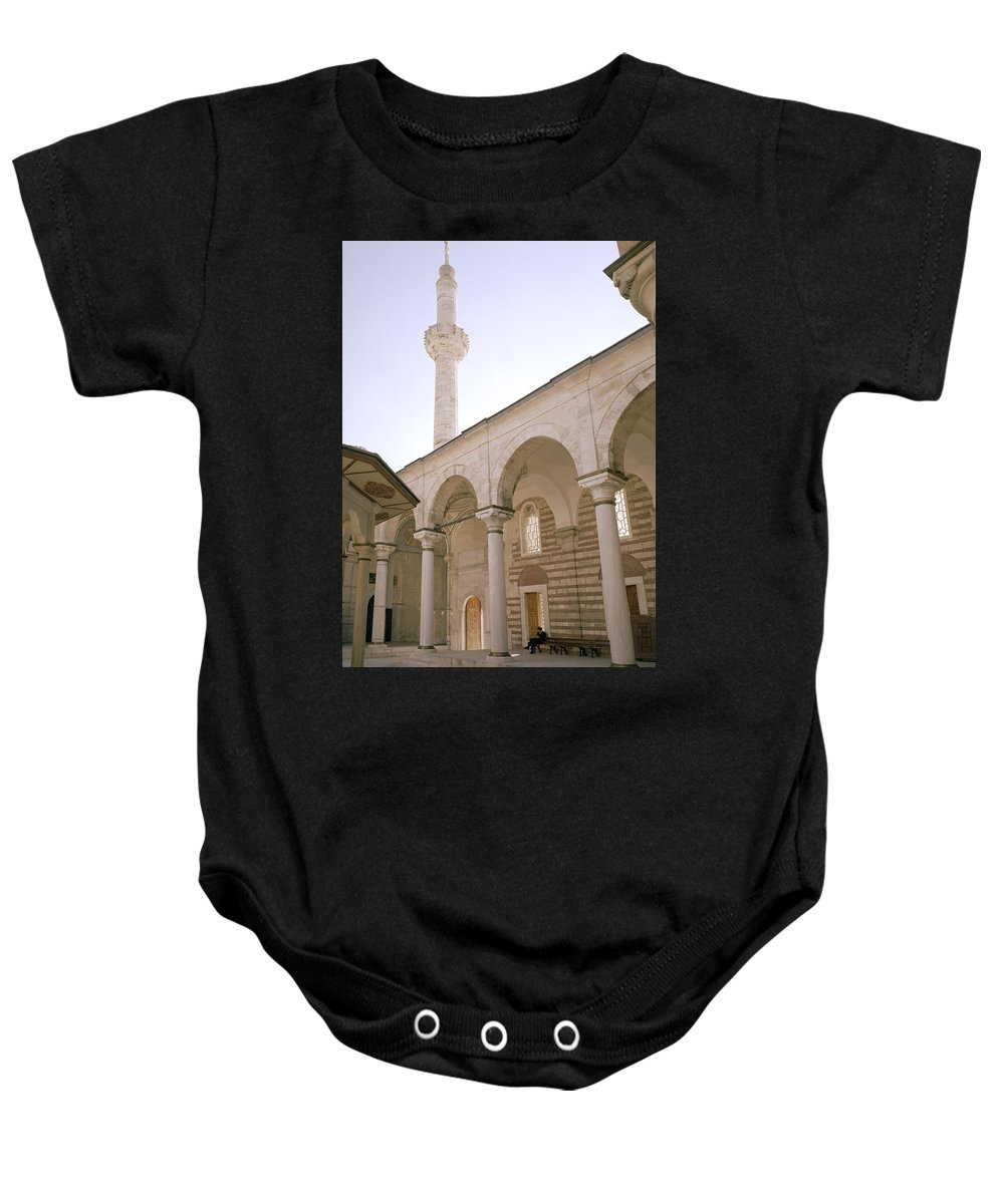 Istanbul Baby Onesie featuring the photograph The Tulip Mosque by Shaun Higson