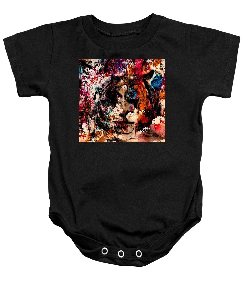 Twilight Zone Baby Onesie featuring the painting The Twilight Zone by Natalie Holland