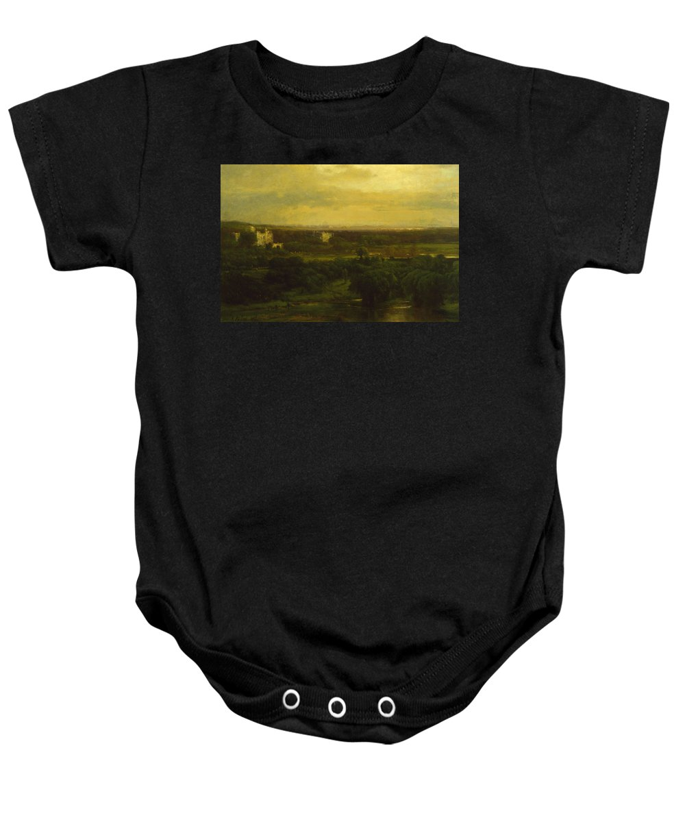 George Inness Baby Onesie featuring the painting The Valley Of The Olives by George Inness