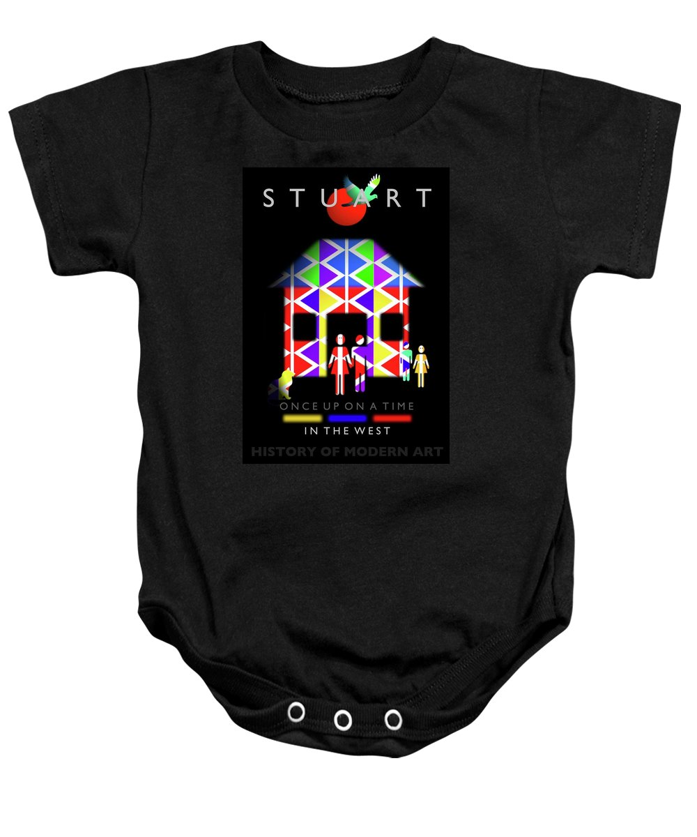 West Baby Onesie featuring the painting The West by Charles Stuart