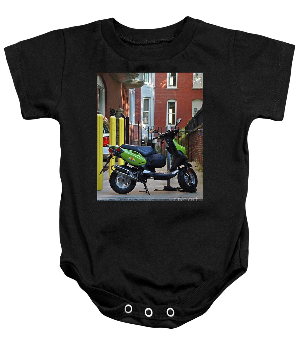 Boston Baby Onesie featuring the photograph The Wonder Vehicle by Brittany Horton