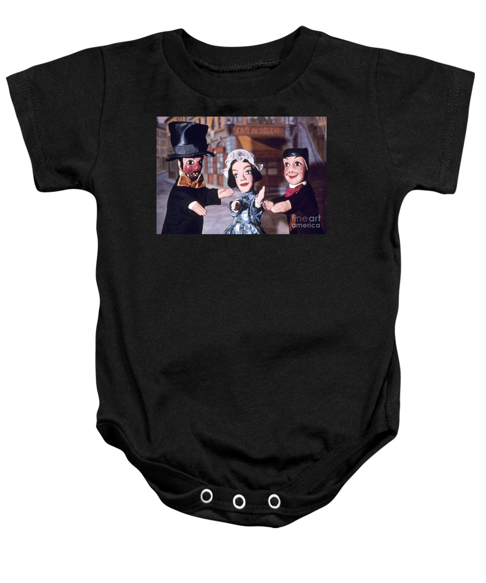 Entertainment Baby Onesie featuring the photograph Theater: Puppet Characters by Granger