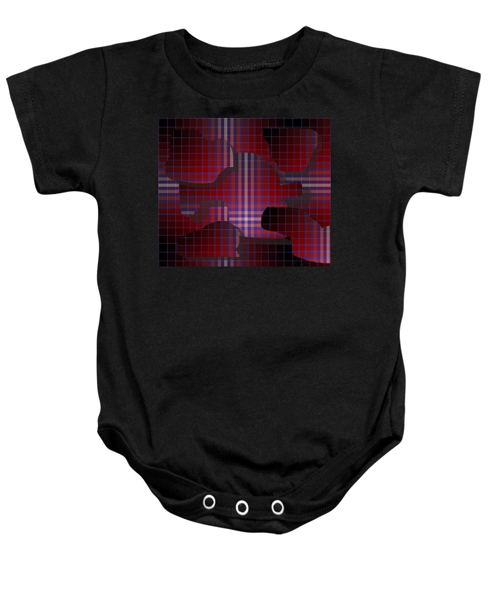 Digital Baby Onesie featuring the digital art These Pieces Dont Fit by Ron Bissett