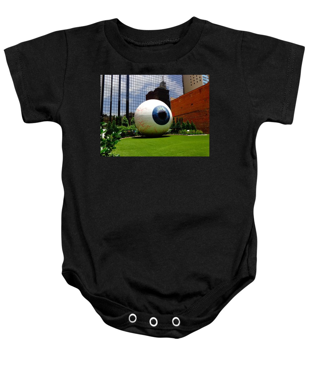 Dallas Baby Onesie featuring the photograph Things Are Big In Dallas by Larissa Pirogovski