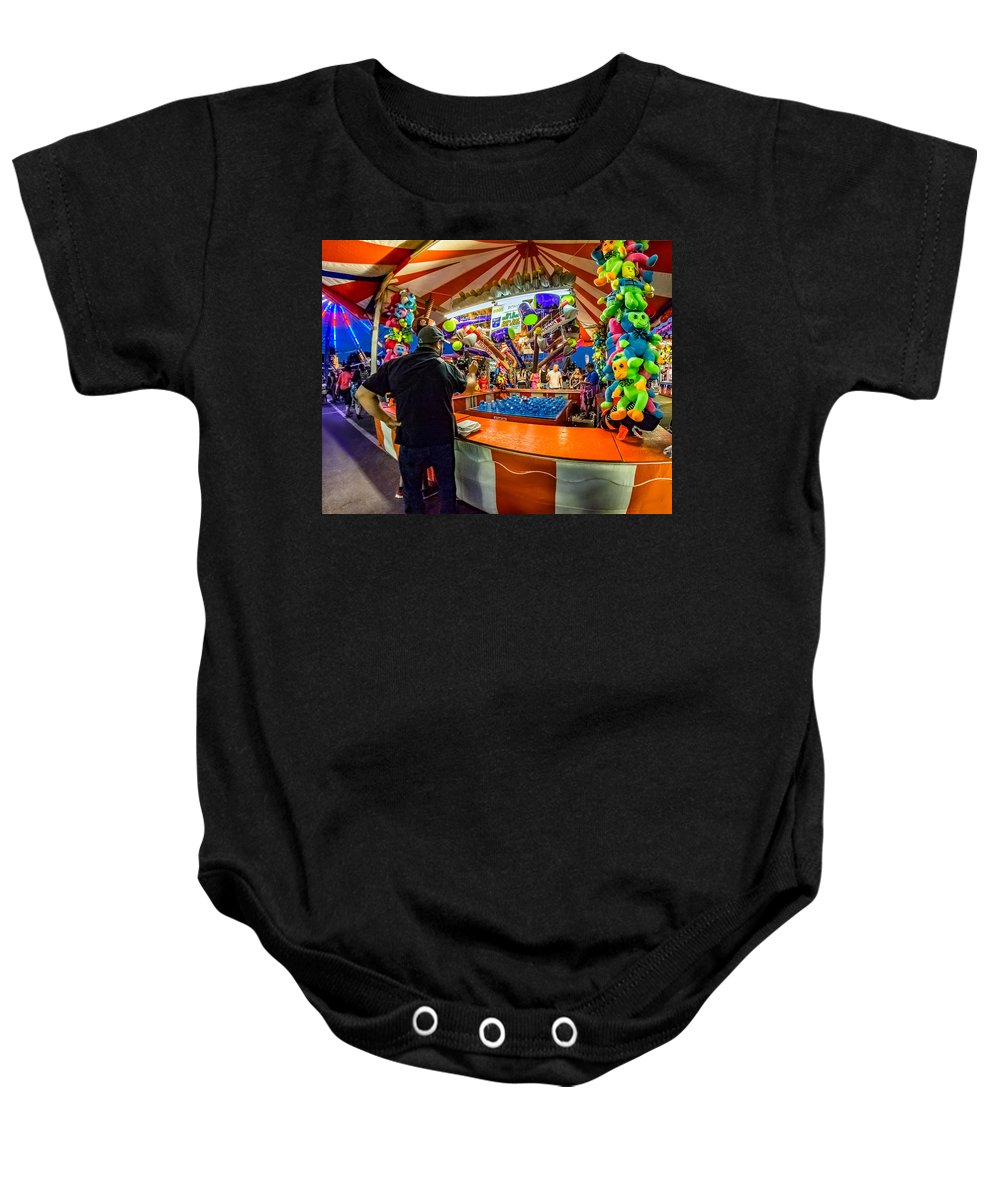 Bolton Baby Onesie featuring the photograph This Should Be Easy by Steve Harrington