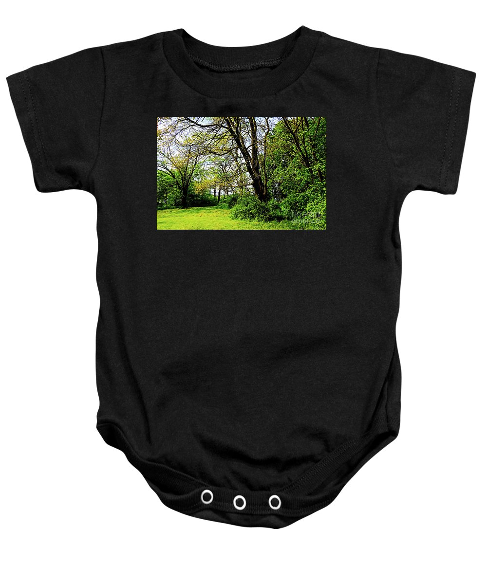 Nature Baby Onesie featuring the photograph This Way Out by Don Baker