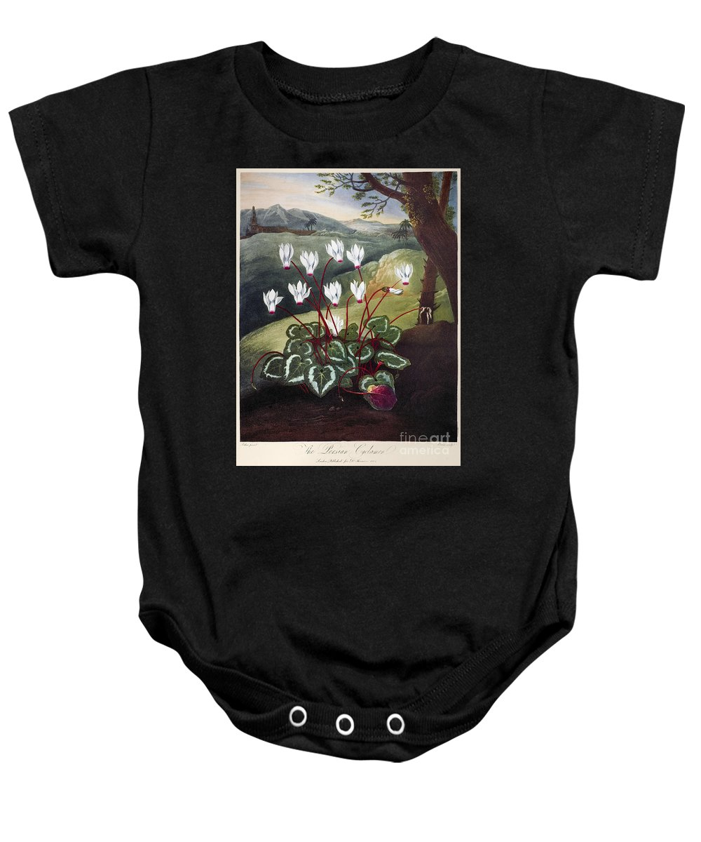 1804 Baby Onesie featuring the photograph Thornton: Cyclamen by Granger