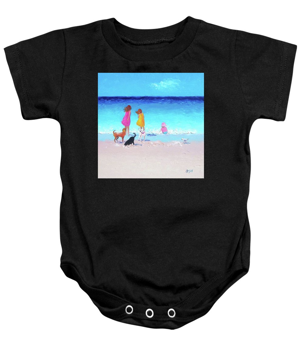 Beach Baby Onesie featuring the painting Those Summer Days by Jan Matson