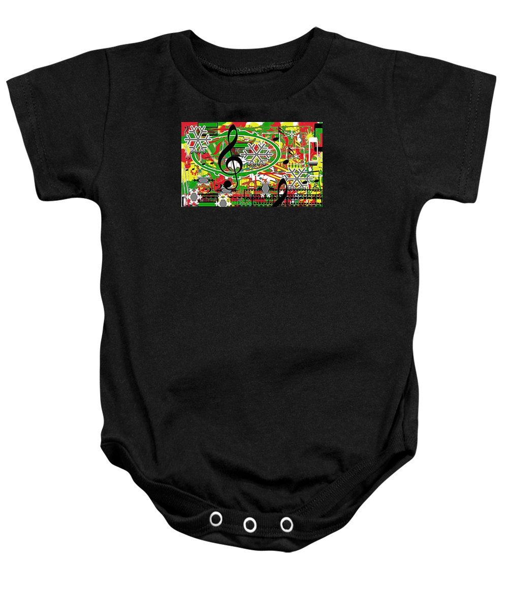 Music Baby Onesie featuring the digital art Thoughts Of Christmas by April Cook