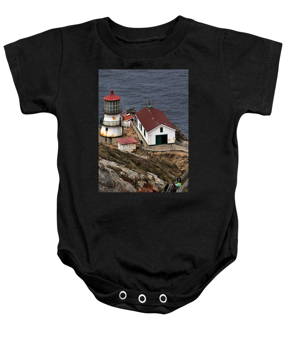 Point Reyes Lighthouse Baby Onesie featuring the photograph Three Story Climb by Michael Gordon
