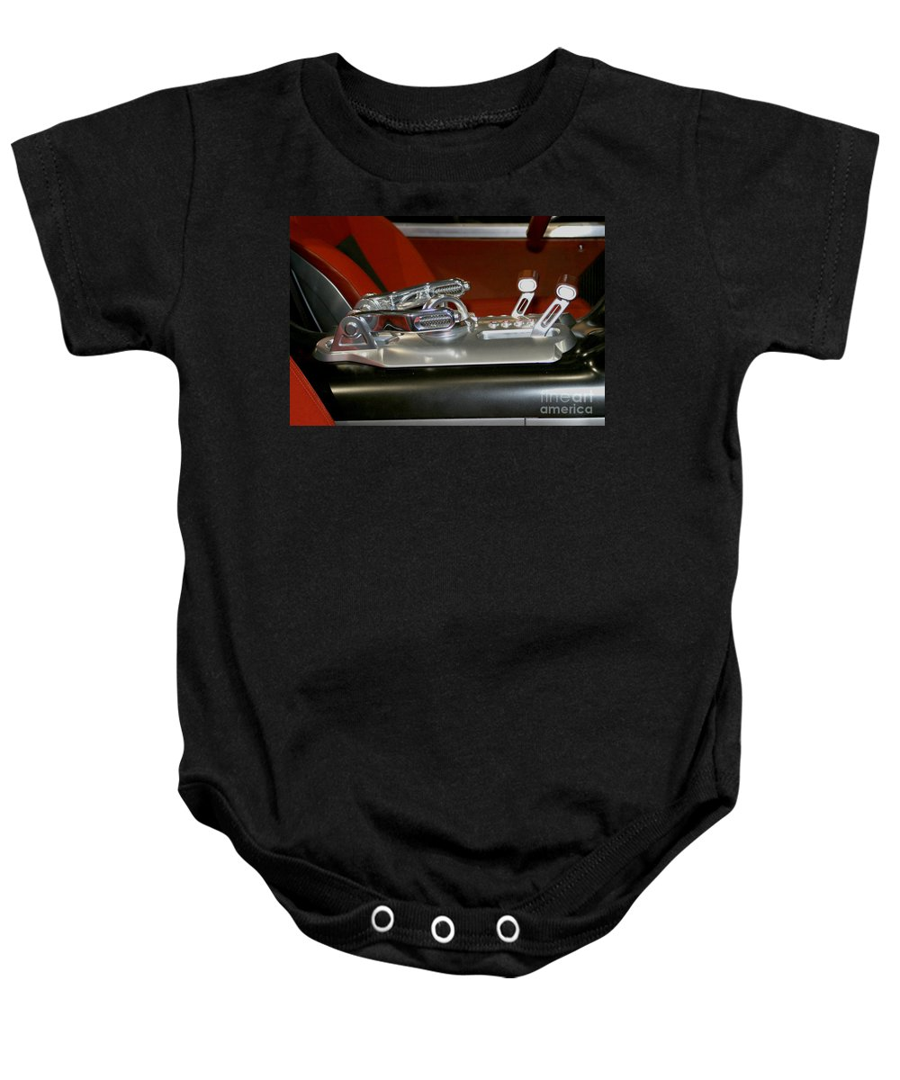 Art Baby Onesie featuring the photograph Throttle Up by Alan Look