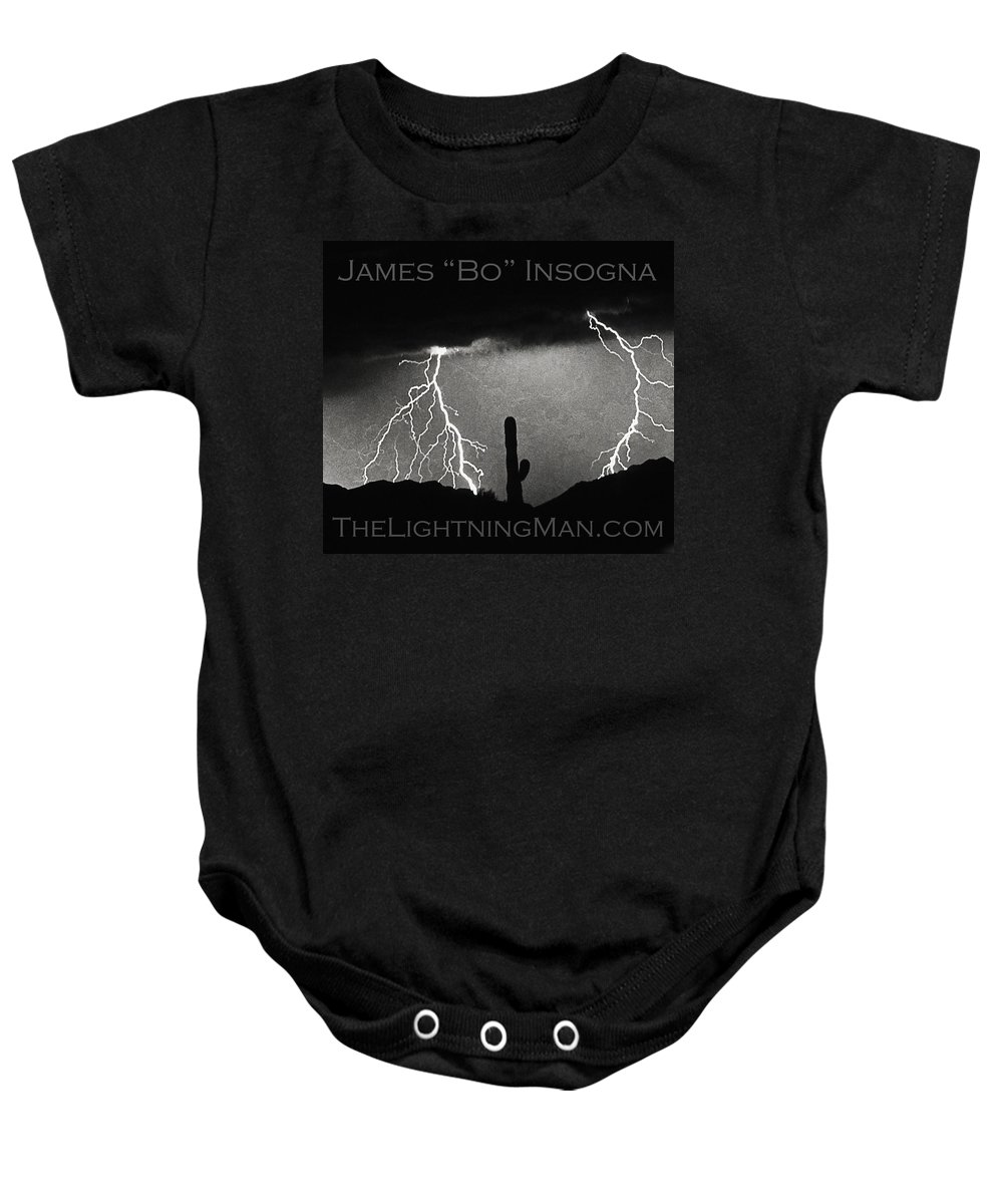 Lightning Baby Onesie featuring the photograph Thunderstorm Poster Print by James BO Insogna