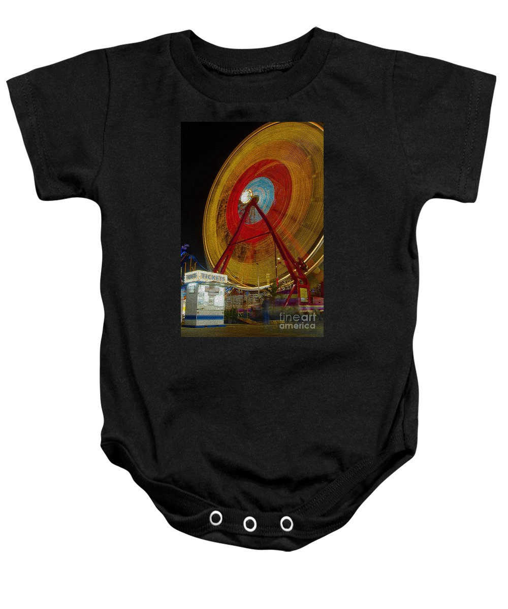 Amusement Ride Baby Onesie featuring the photograph Tickets by David Lee Thompson