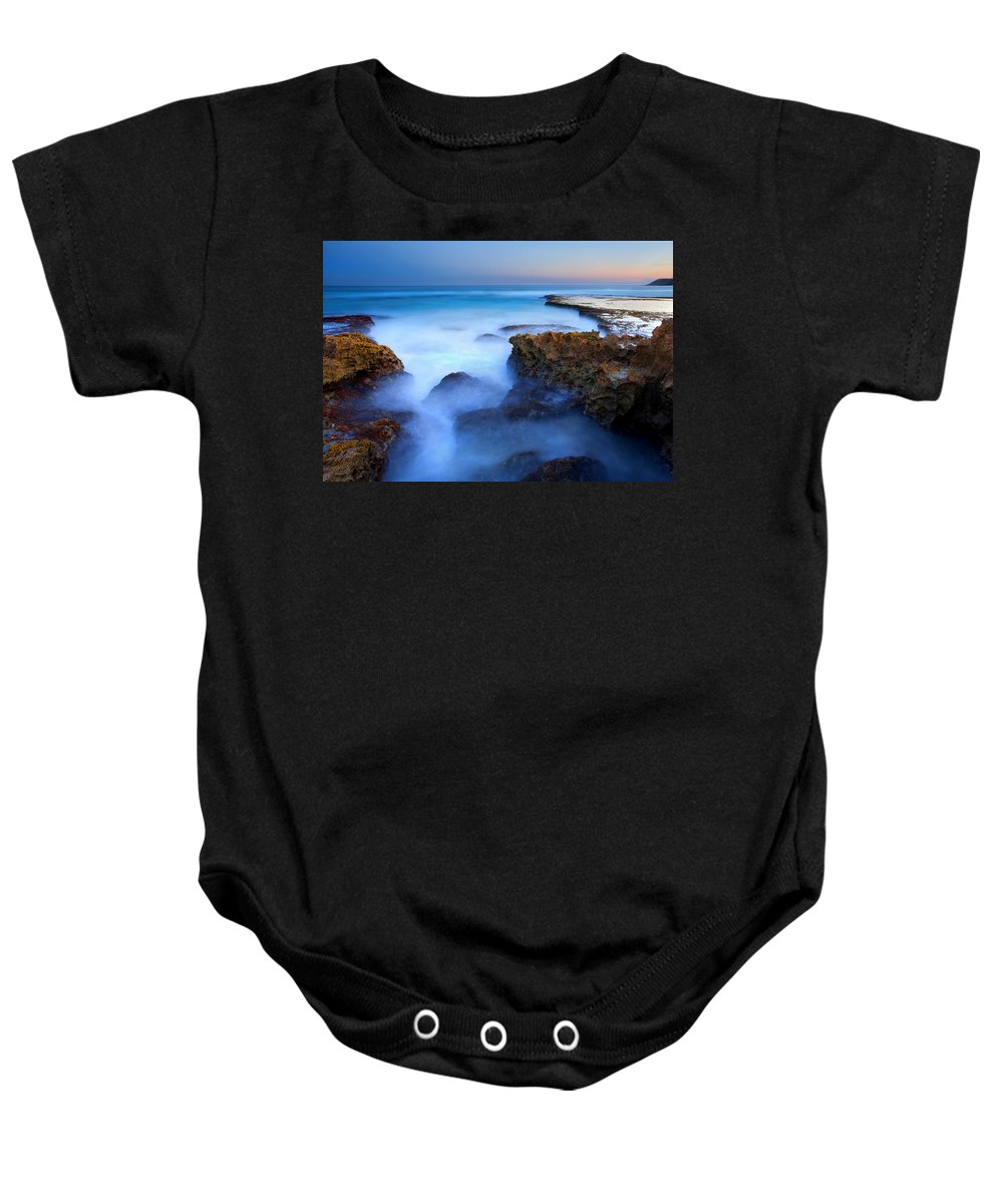 Pennington Bay Baby Onesie featuring the photograph Tidal Bowl Boil by Mike Dawson