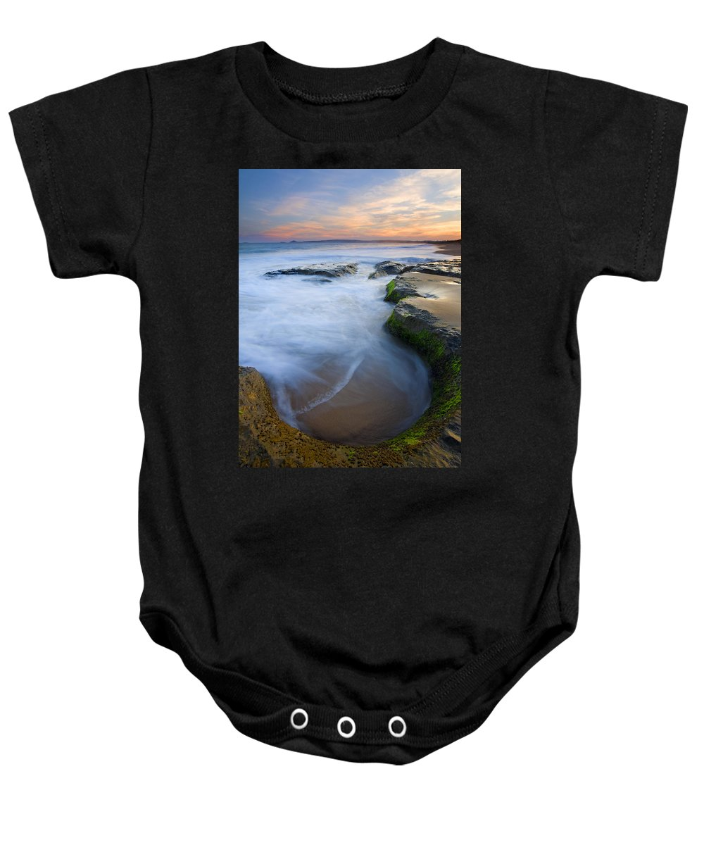 Beach Baby Onesie featuring the photograph Tidal Bowl by Mike Dawson