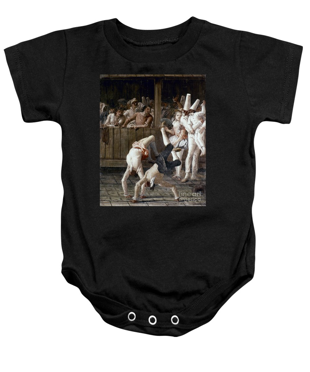 18th Century Baby Onesie featuring the photograph Tiepolo: Acrobats, 18th C by Granger