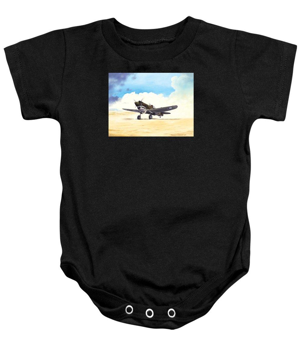 Aviation Baby Onesie featuring the painting Tiger Scramble by Marc Stewart