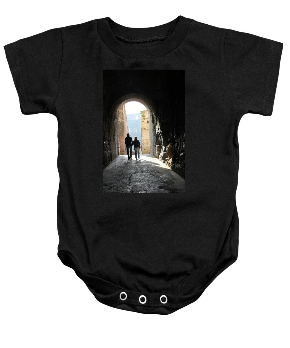 Rome Baby Onesie featuring the photograph Time To Leave by Munir Alawi