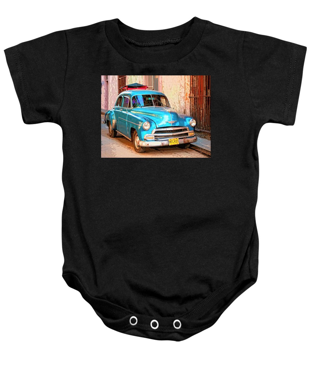 Time Traveler Baby Onesie featuring the mixed media Time Traveler by Dominic Piperata
