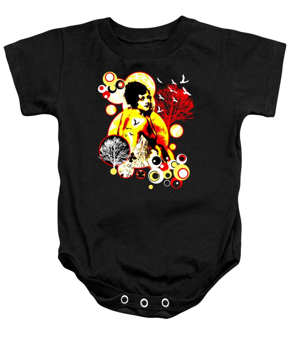 Nostalgic Seduction Baby Onesie featuring the digital art Timeless Flight by Chris Andruskiewicz