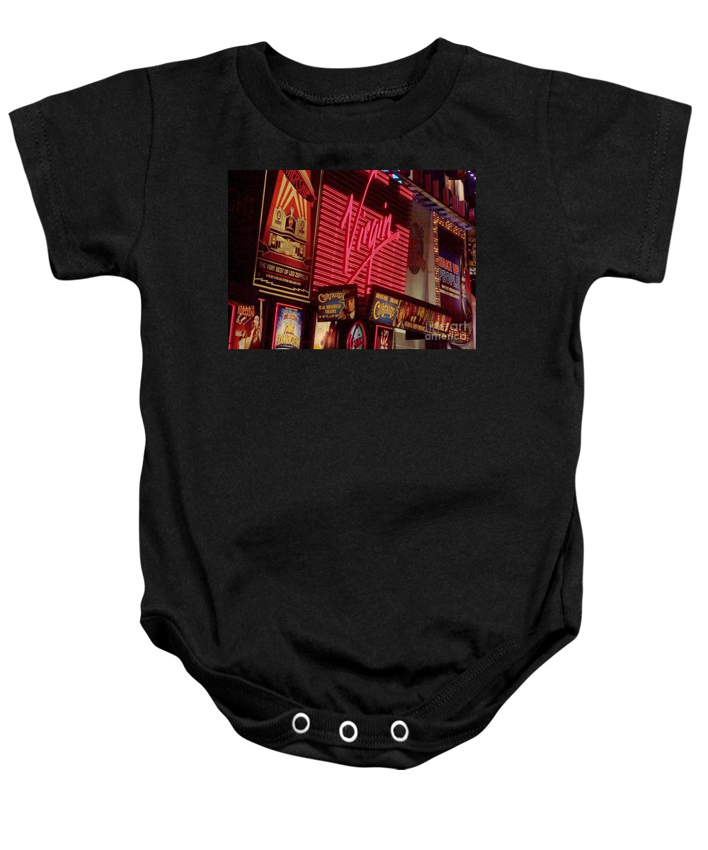 Times Square Baby Onesie featuring the photograph Times Square Night by Debbi Granruth